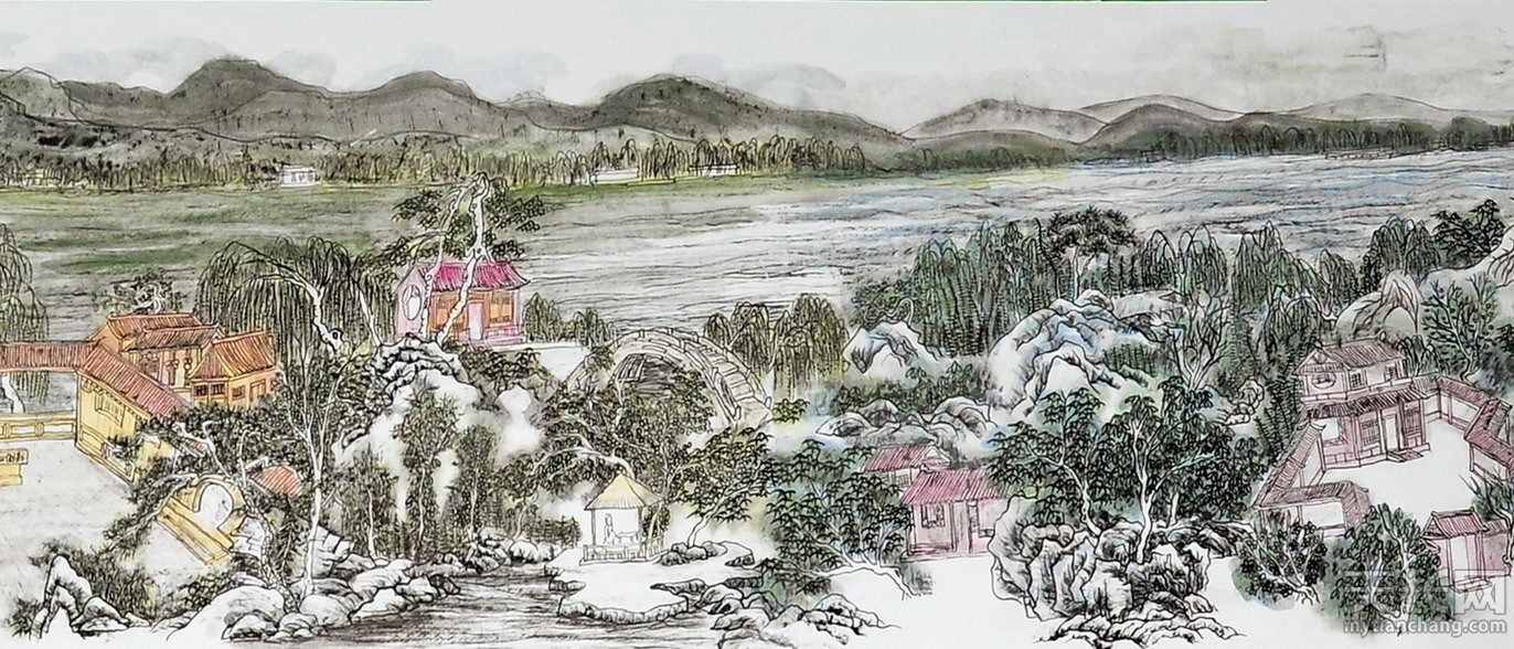 黄东雷书画 明湖景区图-09.jpg