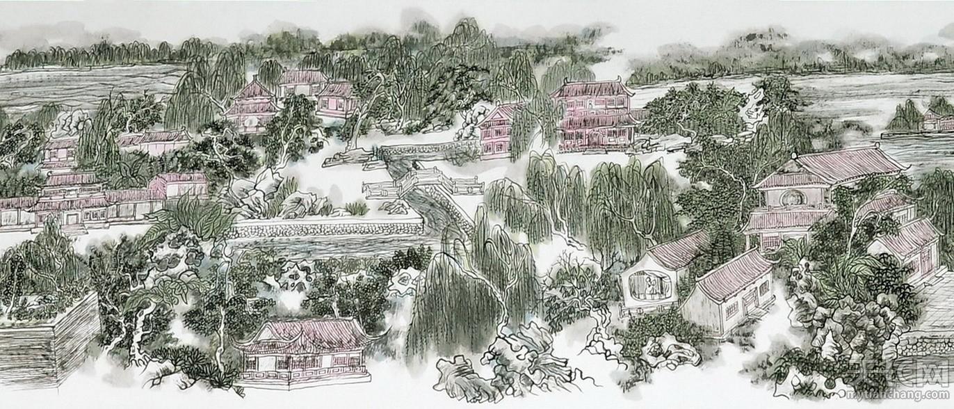 黄东雷书画 明湖景区图-10.jpg