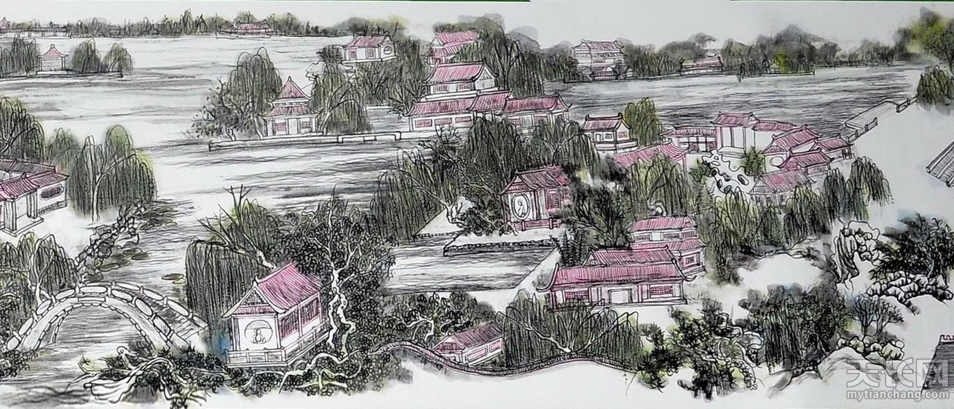 黄东雷书画 明湖景区图-13.jpg