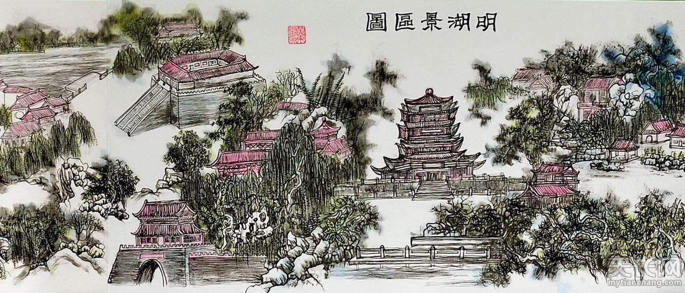黄东雷书画 明湖景区图-15.jpg