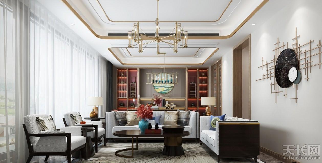 -福利来装饰-新中式古典三居120㎡装修案例